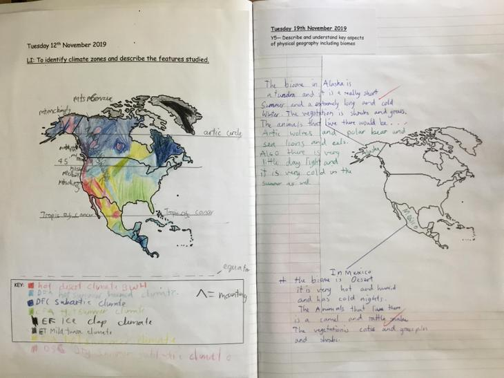 We identified climate zones in North America