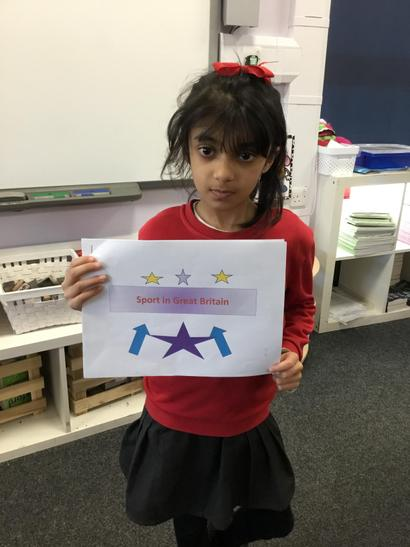 Emaan researched different sports in GB