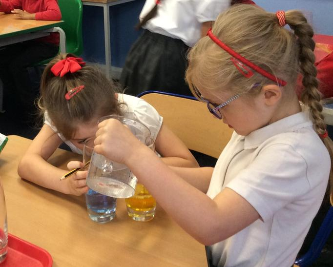 Comparing water levels in glasses
