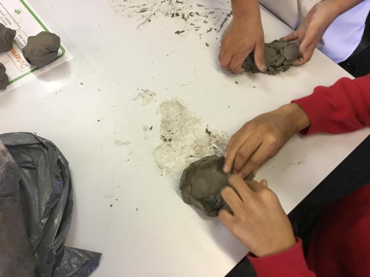 We used our fingers to make the base smooth.