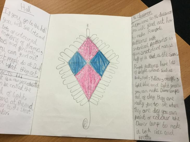 My information leaflet and Rangoli pattern.