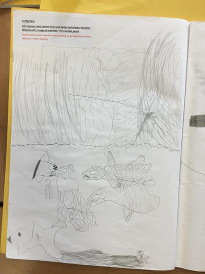 We practised sketching them at first