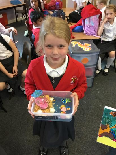 Ellie had created an edible ocean scene!
