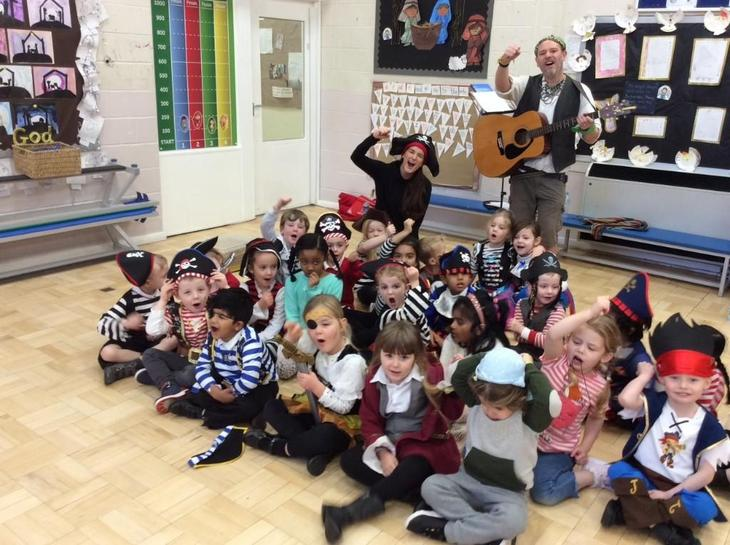 """We loved singing songs on pirate day,"" Teddy."