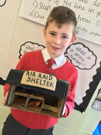 I worked with my mum on the painting - Oliver