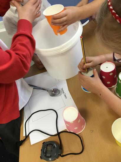 Making different holes and testing with salt