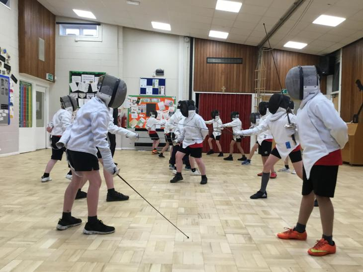 We love our fencing lessons