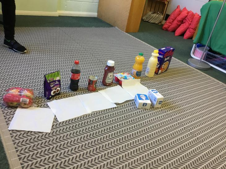 We researched how much sugar was in foods