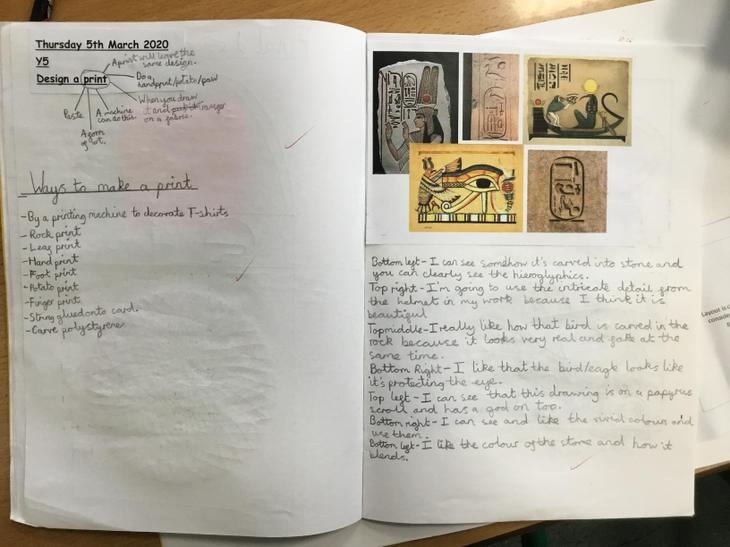 Researching Egyptian images in art