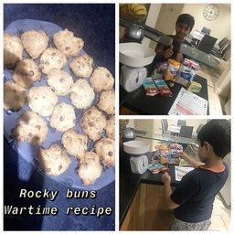 Fazil baked rock buns at home