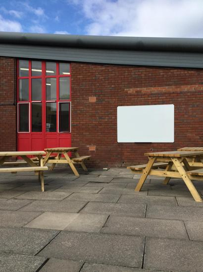 Outdoor classrooms to promote healthy lifestyles.