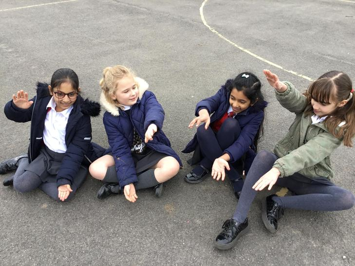We made a human digestive system. This is the mouth and teeth.