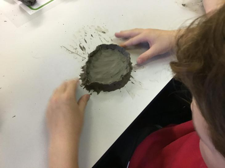 We used pinching to add texture.