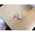 We made our own Christingle.