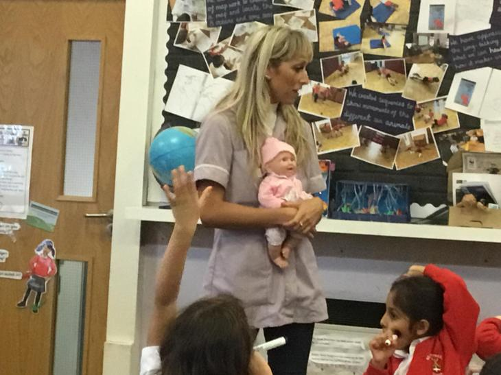 She helps the babies learn new things everyday