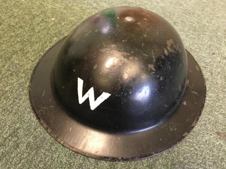 An air raid warden helmet