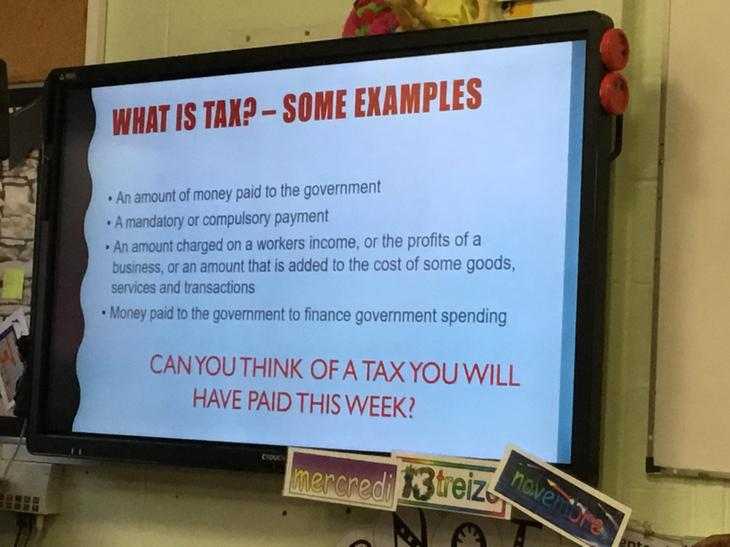 We received a presentation from the HMRC