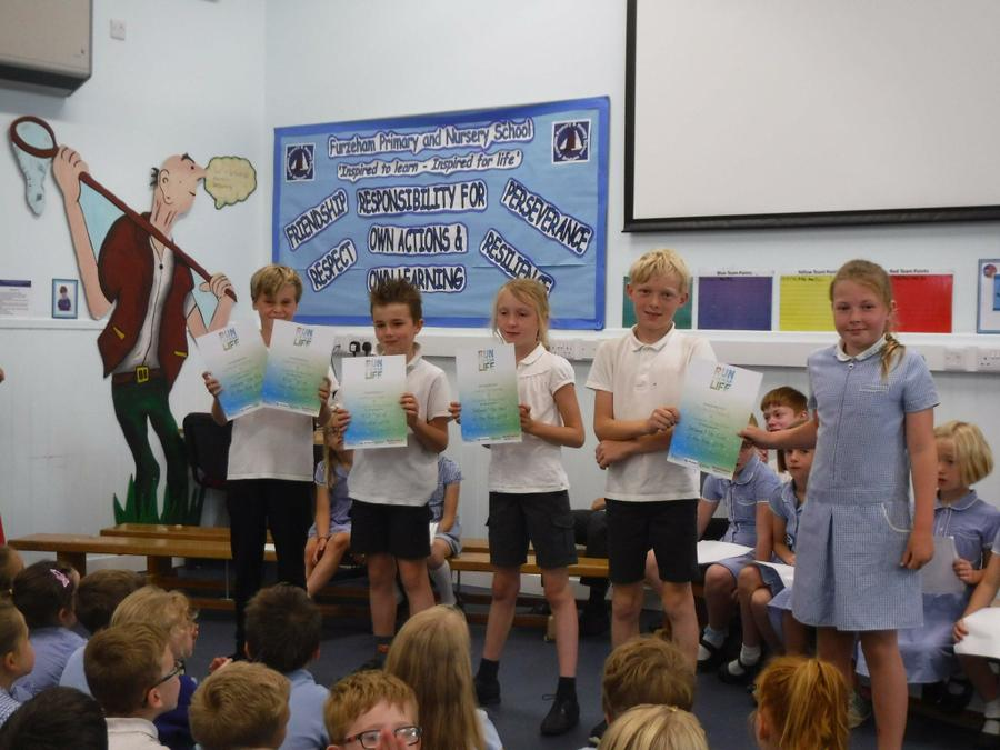 KS2 Overall Winners of the 'Run for Your Life