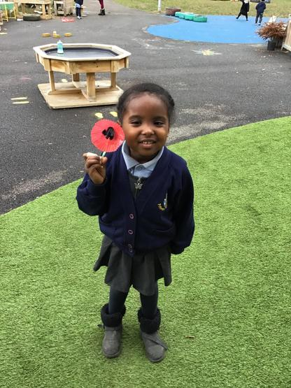 We made our own poppy.