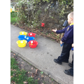 Which tricky word is on the bucket?