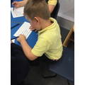 Reading tricky sentences.