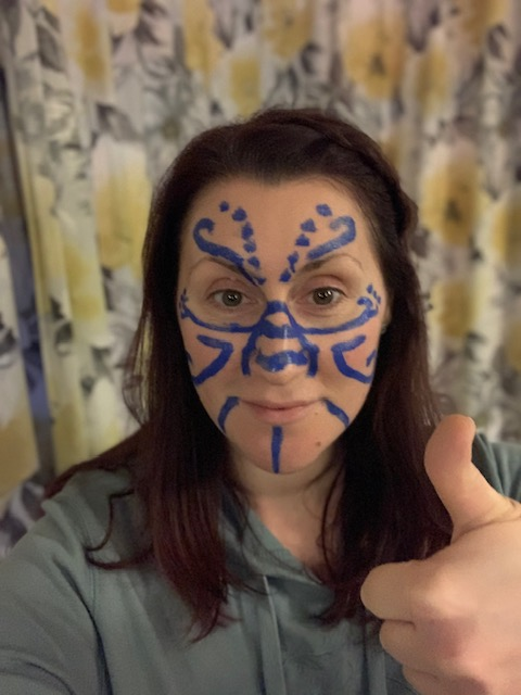 Here's me with some Celtic war paint - have a go yourself!