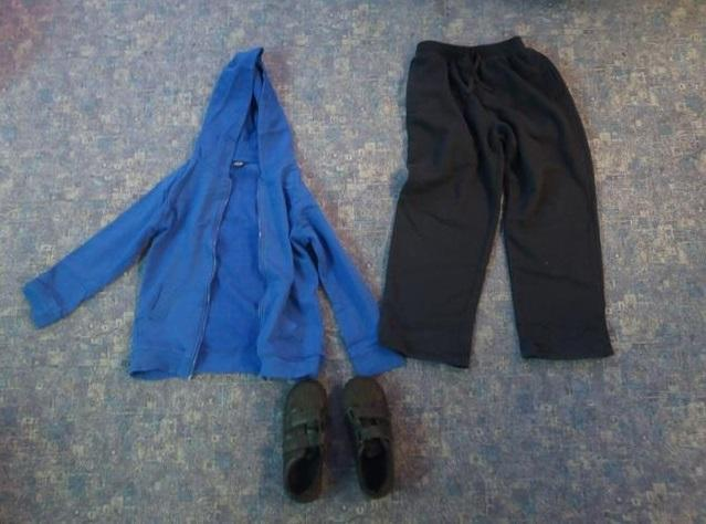 Outdoor:tracksuit bottoms, tracksuit top, trainers