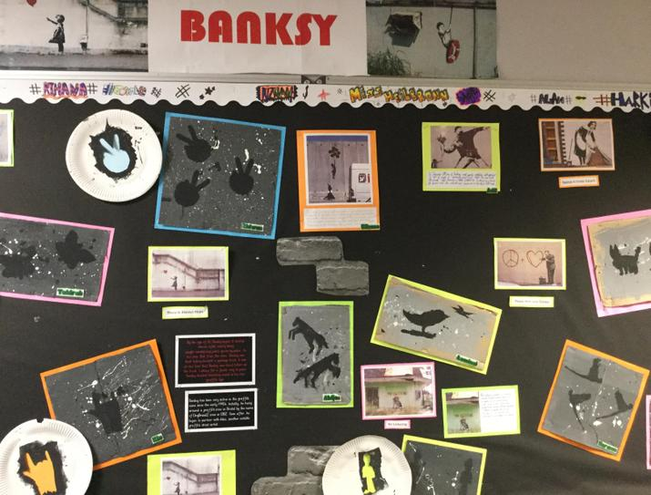 Our Banksy display