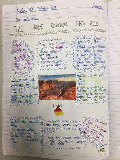 Jainab's Grand Canyon Fact File