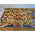 The finished apple tarts