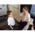 Science lesson about measuring our heart rate