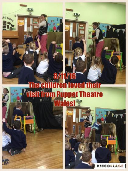 The children thoroughly enjoyed their visit from Puppet Theatre Wales.  They joined in with nursery rhymes and thought it was very funny.