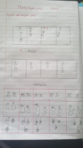 Fatima, Bulu class made equal groups in Maths