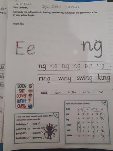 Hanwriting and grammar by Rayan, Bulu clas