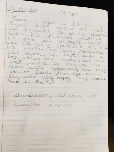 A short narrative by Aditya, Blue class