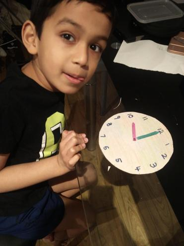 Maths-telling o'clock time by Pranav,EKalter class