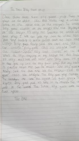 A short narrative by Fatima, Bulu class