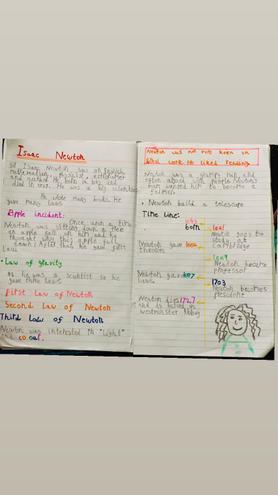 Writing- Isaac Newton Report by Eshaal, Bulu
