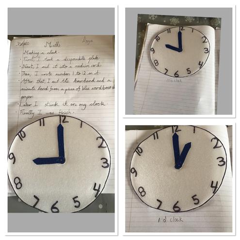 Instructional writing by Anaya, Blue class