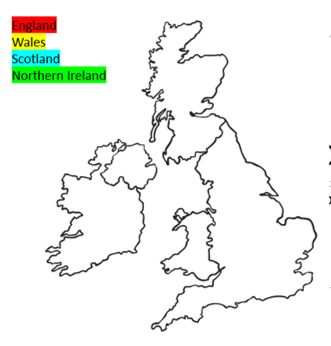 Today's activity - see if you can colour the countries and then label them.