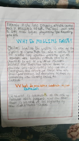 Amazing Islamic religion facts by Fatima, Bulu