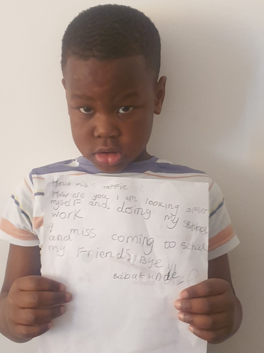 Creative writing by Babatunde, Blue class