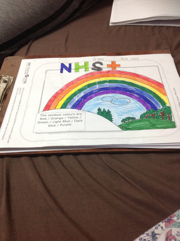 'Rainbow of hope-Thank you NHS' by Prisha, Bulu