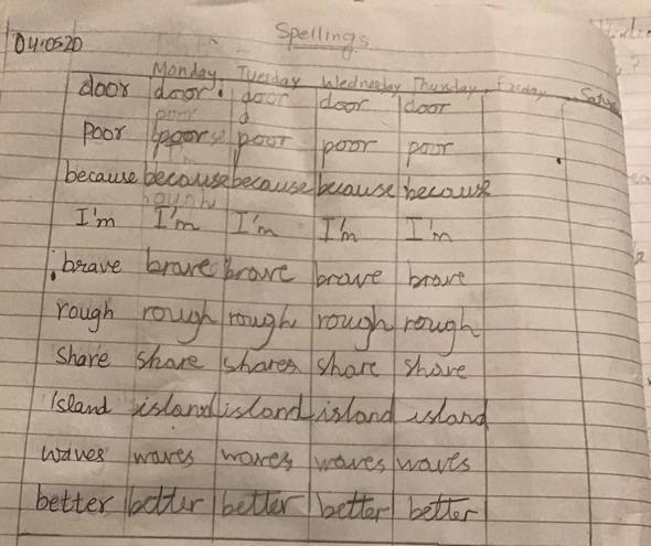 Spelling Practise by Anaya, Blue
