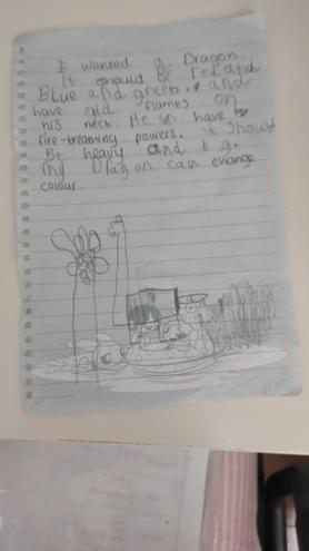 Descriptive writing by Jevon, Azul class