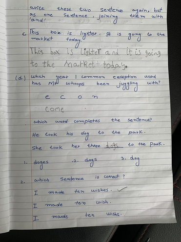 SPaG learning by Eshaal, Bulu