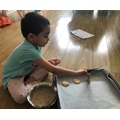Tanvika is baking some delicious cookies!