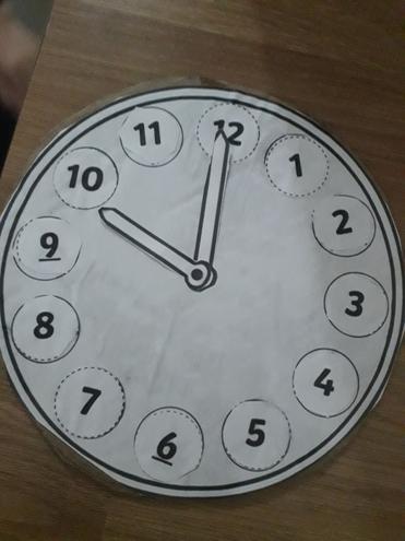Maths-telling o'clock time by Rayan, Bulu class