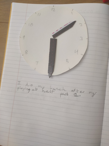 Maths-daily routine by Aditya, Blue class