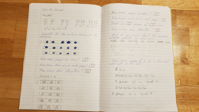 Maths-making arrays by Larisa, Bulu